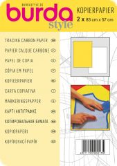 Tracing carbon paper, 83x57cm,white/yellow, 2pcs.