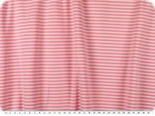 Bio cotton, single jersey, stripes, pink-white, 160cm