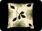 Pillow case, flowers, grey, 45x45cm