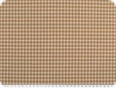 Trendy deco fabric, houndstooth check, brown-white, 140cm