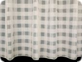 Nice Stores-curtain fabric, white with lead weights,270cm