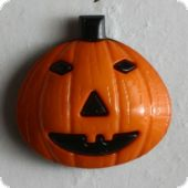 Halloween, Pumpkinhead, Button 18mm, orange black