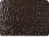 Artificial leather, backdide: felt, brown, ca 140cm