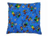 Football pillow, green-multicolour, 40cm x 40cm