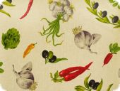 Deco fabric, vegetables, multicolour, 280cm
