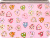 Deco fabric, hearts, pink, 160cm
