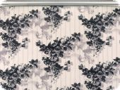 Highquality deco fabric, flowers, black, 140cm