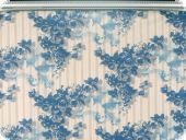 Highquality deco fabric, flowers, blue, 140cm