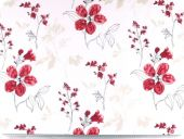 highquality decoration fabric, flowers, red, 165cm