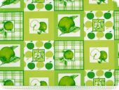 Decoration fabric, apples and squares, multicolour, 160cm