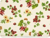 Highquality decoration fabric, berries, multicolour, 14
