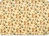 Decoration fabric, flowers, beige-multicolour, 140cm
