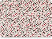Deco fabric, flowers, multicolour, 140cm