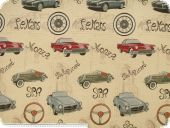 Jacquard Deco fabric ,cars,  multicolour, 140cm