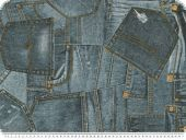Decoration fabric, Jeans, 75% Cotton, 25% PES, 140cm