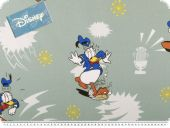 Disney fabric, Donald Duck,  pale green, 140cm