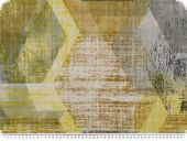 Decoration fabric, geometry, yellow,  multicolour, 140cm