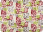 Decoration fabric, flowers, red-multicolour, 140cm