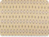 Deco jacquard, atztec-rhombus, brown-yellow, 140cm
