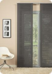 Sliding panel with aluminium carriage, 245cmx60cm.dark grey