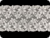 Beauty lace, flower embroidery on knitted fabric, white