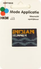 Fusible application, 'Indian Runner', multicolor,3x4cm