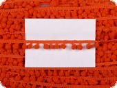 Binding with bobbles, orange, ca. 10mm