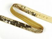 Sequin ribbon, gold, 20mm