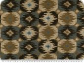 Jacquard upholstery fabric, chenille, brown blue beige,145cm