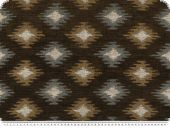 Upholstery fabric with chenille, brown-multicolour, 145cm