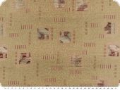 Jacquard upholstery fabric with squares, beige-violet,140cm