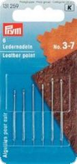 Leather needles with triangular point, 6pcs, No. 3-7