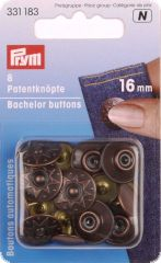 4 Bachelor buttons with pointed nail, 16mm, antique copper-c