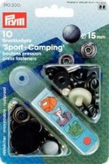 Press fasteners 'Sport & Camping', 10pcs, black oxidized