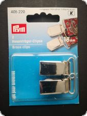 Brace clips, steel, rust protected for sewing on, 18 mm, 2pc