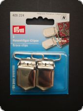 Brace clips, steel, rust protected for sewing on, 30mm