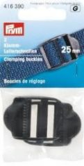 Clamping buckles, strong, 25mm, black, 2 pieces