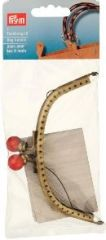 Bag handle, 'Alegra', brass coloured, 12,5 x 5,5cm
