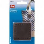 Attaching pads, 5.5 x 5.5cm, brown, 4 pcs.