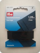 Gold Zack, kick tape,  1,25m, black
