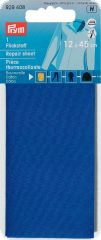 Repair sheet, for ironing on, 30 x 10 cm, medium blue
