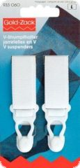 Gold Zack V-suspenders, 20mm, 2pcs., white