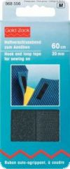 Hook and loop tape, for sewing on, 20mm, L:60cm, black