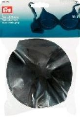 Push-up bust forms, cup size M-L, 2pcs., black