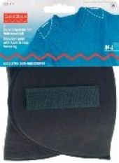 Shoulder pads with hook and loop fastening, M-L, black