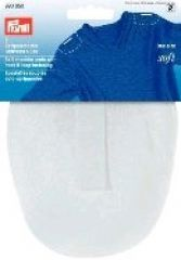 Soft pads w hook and loop fastening, raglan, one size, white
