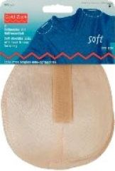 Soft pads w hook and loop fastening, raglan, one size, flesh
