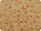 Valuable embroidered silk fabric, 140cm