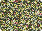 Valuable silk chiffon, flowers,  multicolour, 135cm