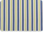 Deco fabric, stripes, blue-white-green, 140cm